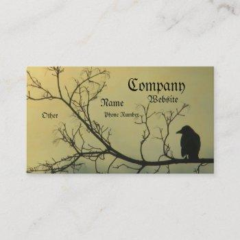 a bird business card
