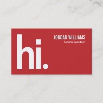 a powerful hi - modern business card - groupon
