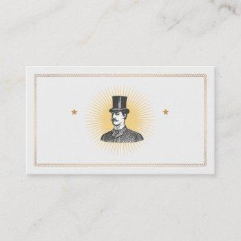 a true gentleman vintage business card
