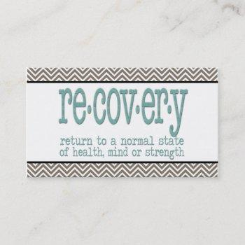 aa recovery definition business card