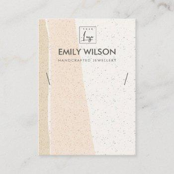 abstract blush ceramic waves necklace display logo business card