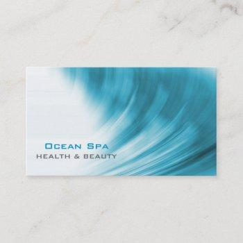abstract ocean wave business card