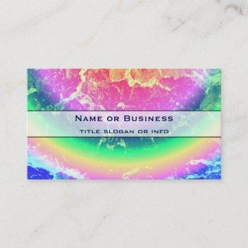abstract - on fire with psychedelic rainbow colors business card