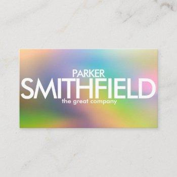 abstract simple color design business card