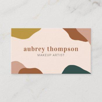 abstract terra organic shapes modern business card