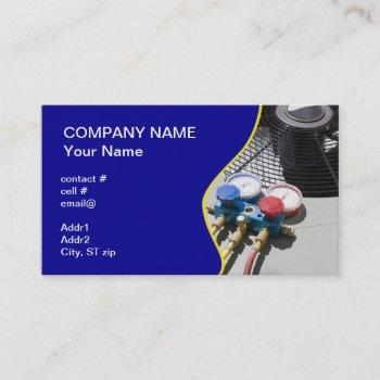 ac maintenance business card