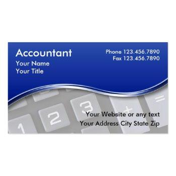 Small Accountant Business Cards Front View