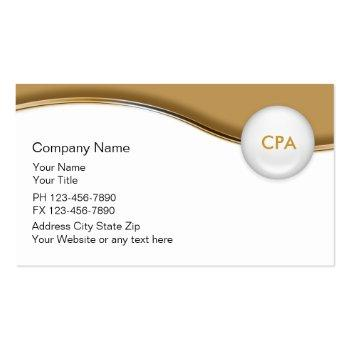 Small Accountant Indestructible Business Cards Front View