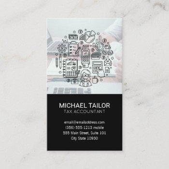accounting | book keeping | financial advisor business card