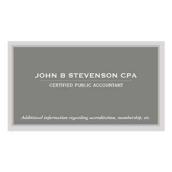 Small Accounting  Business Card Front View