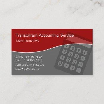 accounting business cards unique