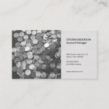accounting | money management business card