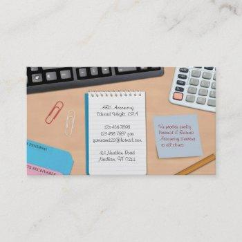 accounting / office work business card