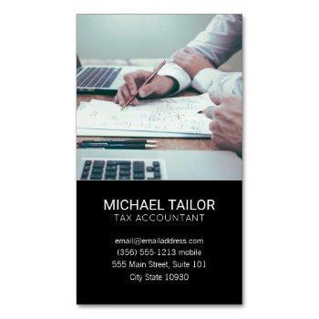 accounting | tax prep business card magnet