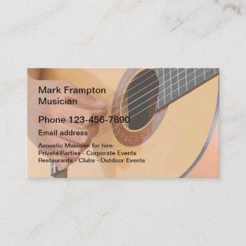 acoustic guitar musician business card