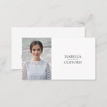 actor model dancer headshot photo social media business card
