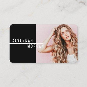 actor model dancer photo trendy contemporary bold business card
