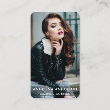 actor model photo modern blk r business card