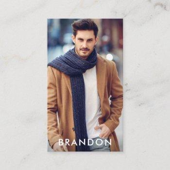 actor model photo modern blk w business card