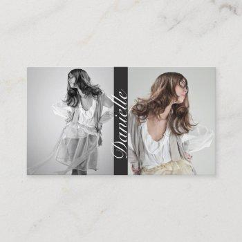 actors and models double photo business card