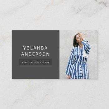 actors models photo modern black fashion stylists business card