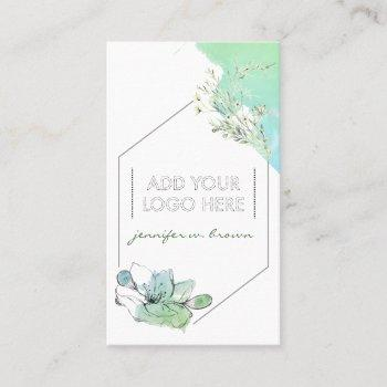 add custom logo essential oils business card
