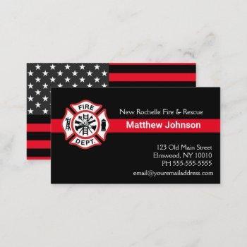 add firehouse embem | fire department firefighter business card