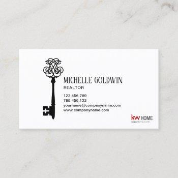 add logo change color real estate professional key business card