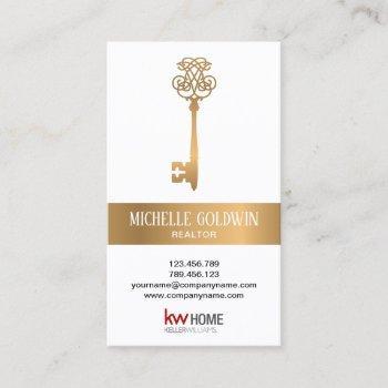 add logo real estate professional vintage key business card