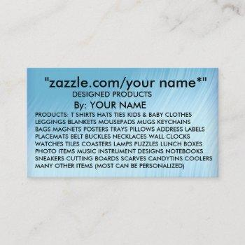 "add  name   zazzle.com/your name*"" -business card"