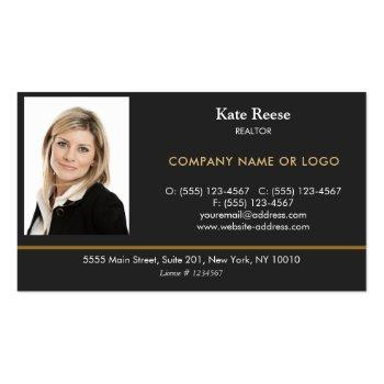 Small Add Photo Insert Real Estate Professional Business Card Magnet Front View