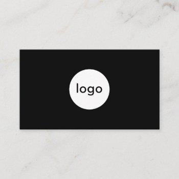 add your custom logo circle professional black business card