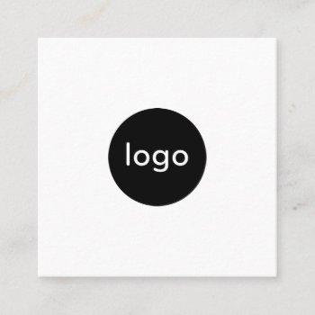 add your custom logo circle professional white square business card