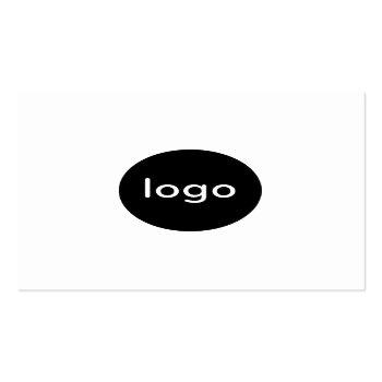 Small Add Your Custom Logo Circle Professional White Square Business Card Front View