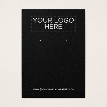 add your logo - black earring display card