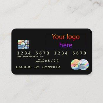 add your logo holograph modern credit card