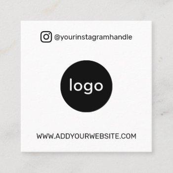 add your logo photo qr code modern social media square business card