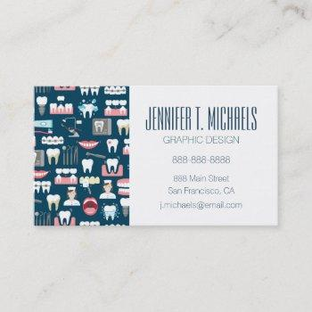 add your name | dental clinic office pattern business card