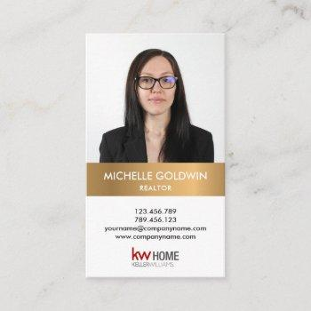 add your photo and logo real estate professional business card