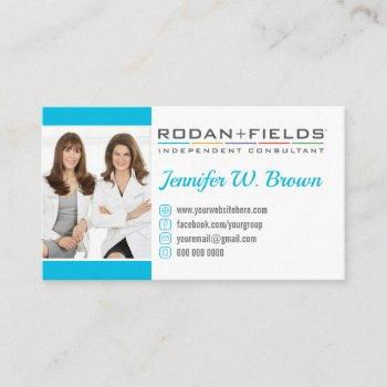 add your photo blue rodan and fields business card