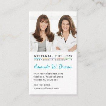 add your photo rodan and fields vertical business card