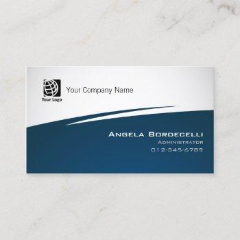 administrator finance management zig zag business card