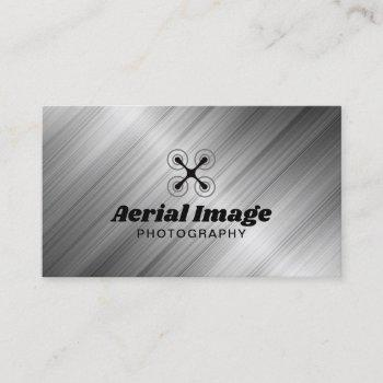 aerial drone photography professional metal business card