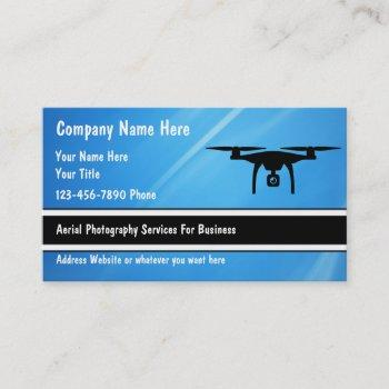 aerial drone photography services business card
