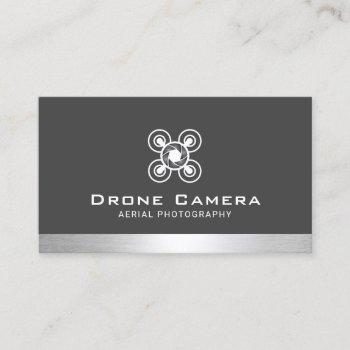 aerial photography drone service photographer business card
