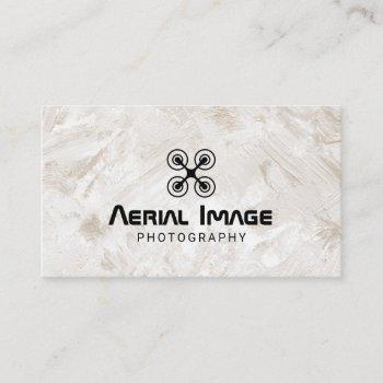 aerial video & photography drone service grunge business card