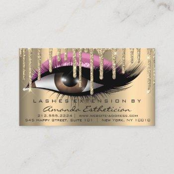 aftercare instructions eyelash extension pink business card