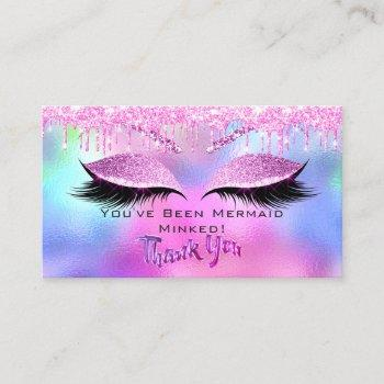 aftercare instructions eyelash pink dripsthank you business card