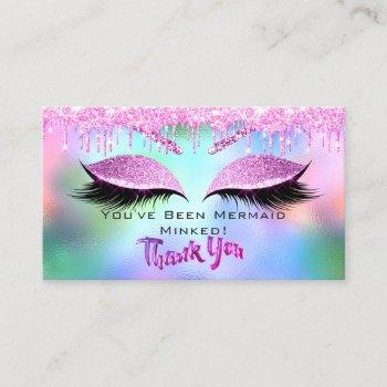 aftercare instructions eyelash thank holographic business card