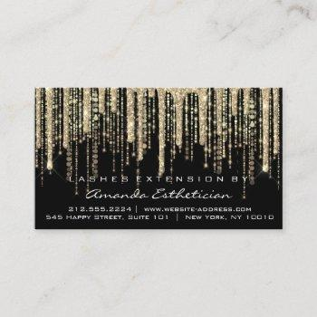aftercare instructions lash extension gold black business card
